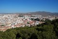 City view malaga andalusia spain elevated of the costa del sol province western europe Stock Image