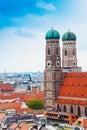 City view of Munich, Frauenkirche, Germany Royalty Free Stock Photo