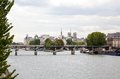 The city view and notre dame de paris france Royalty Free Stock Images