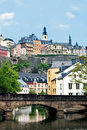 City view of old town Luxembourg Royalty Free Stock Photo