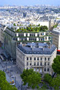 City view of paris scape and park from the top Stock Photos