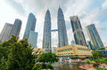City view of petronas twin towers in kuala lumpur Royalty Free Stock Photography