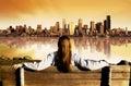 City View Sunrise Stock Photos