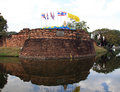City wall and moat in Chiang Mai Royalty Free Stock Photo