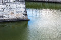 City wall and moat Royalty Free Stock Photo