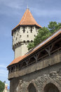 City wall sibiu old in the ancient town of romania Stock Photo