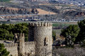 City wall of Toledo, Spanish imperial city famous for its huge h Stock Photo