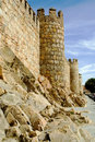 City Walls, Ávila Spain Royalty Free Stock Images