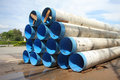 City water supply pipes Stock Photo