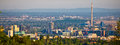 City of Zagreb business district panorama Royalty Free Stock Photo