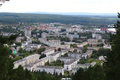 The city of Zelenogorsk, top view Royalty Free Stock Photo