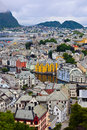 Cityscape of alesund norway architecture background Stock Photos