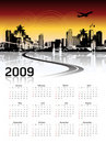 Cityscape background, calendar Royalty Free Stock Photos