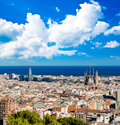 Cityscape of barcelona spain summer Royalty Free Stock Photos