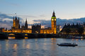 Cityscape of Big Ben and Westminster Bridge with river Thames. L Stock Photo
