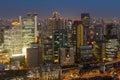 Cityscape bij nacht van umeda osaka japan Stock Fotografie