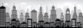Cityscape (black & white) Royalty Free Stock Photo