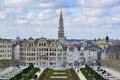 Cityscape of brussels from the mount art belgium Stock Photography