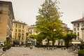 Cityscape como italy small square in Royalty Free Stock Photography