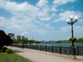 Cityscape donetsk city landscape is visible river Stock Images