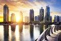 Cityscape Of Dubai At Night, U...