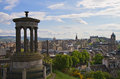 Cityscape of Edinburgh Stock Image