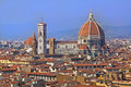 Cityscape florence with famous duomo cathedral landmark Royalty Free Stock Image