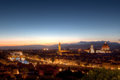 Cityscape Florence, Firenze, Tuscany, Italy Night Royalty Free Stock Photo