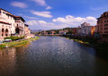Cityscape of florence and river arno italy city tuscany region Stock Images