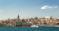 Cityscape with Galata Tower over the Golden Horn in Istanbul Royalty Free Stock Photo