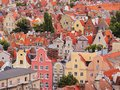 Cityscape of gdansk poland view and its beautiful colorful houses Royalty Free Stock Photos