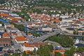Cityscape of halden city Stock Photo