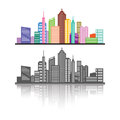 Cityscape illustration in vector Royalty Free Stock Images