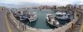 Cityscape of Iraklion, capital of Crete Isle Greece. Royalty Free Stock Photo