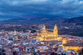 Cityscape of Jaen in the evening