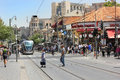 Cityscape of the Jaffa Road in Jerusalem