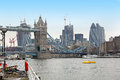Cityscape london from thames river with famous landmarks Royalty Free Stock Photo