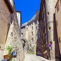 Cityscape of Medieval Streets, Luxembourg Royalty Free Stock Photos