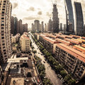 Cityscape of modern city Stock Photo