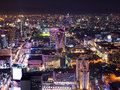 Cityscape night, Bangkok bird eye view Royalty Free Stock Photo