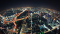 Cityscape night, Bangkok bird eye view Royalty Free Stock Photography