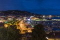 Cityscape by night from cannes france Stock Image