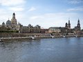 Cityscape of old Dresden Stock Photo