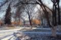 Cityscape park Royalty Free Stock Photo