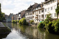 Cityscape in the petite france strasbourg france little is an area located on grand island where river ill splits up into a number Royalty Free Stock Photo