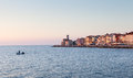 Cityscape of piran at sunset slovenia europe view on Stock Image