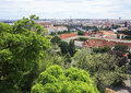 Cityscape of prague in the center Stock Photos