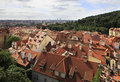 Cityscape of prague in the center Royalty Free Stock Photography
