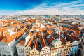 Cityscape of Prague, Czech Republic. View from viewpoint on old Royalty Free Stock Photo
