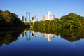 Atlanta Cityscape reflection Royalty Free Stock Photo